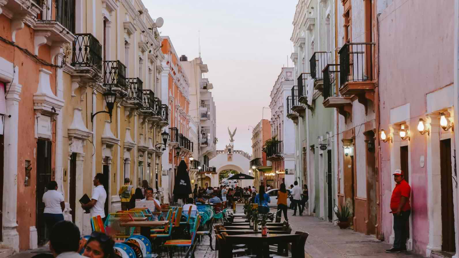 Campeche Old Town UNESCO World Heritage Site in Campeche, Mexico